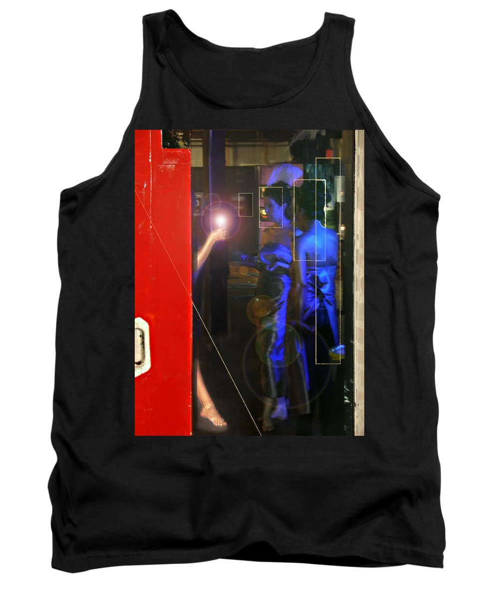 Female Figures Tank Top featuring the photograph Blue Muses by Steve Karol