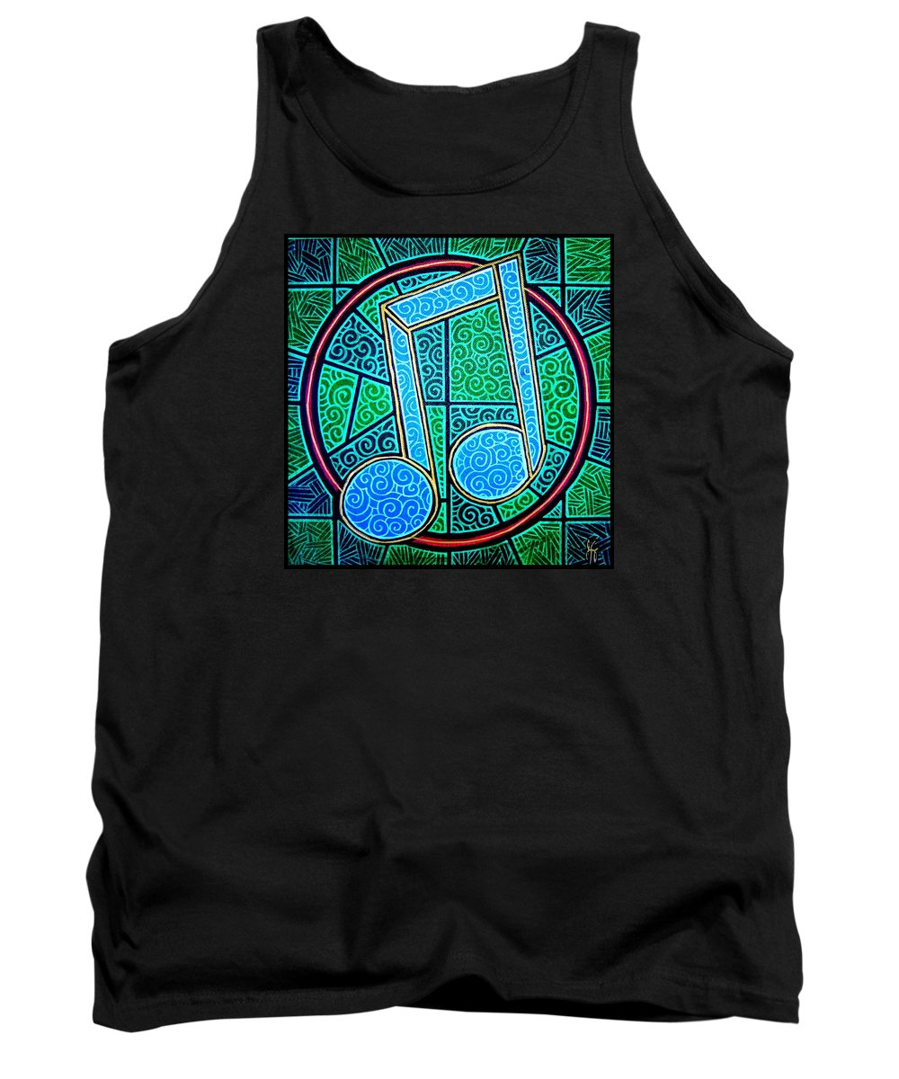 Music Tank Top featuring the painting Blue Note by Jim Harris