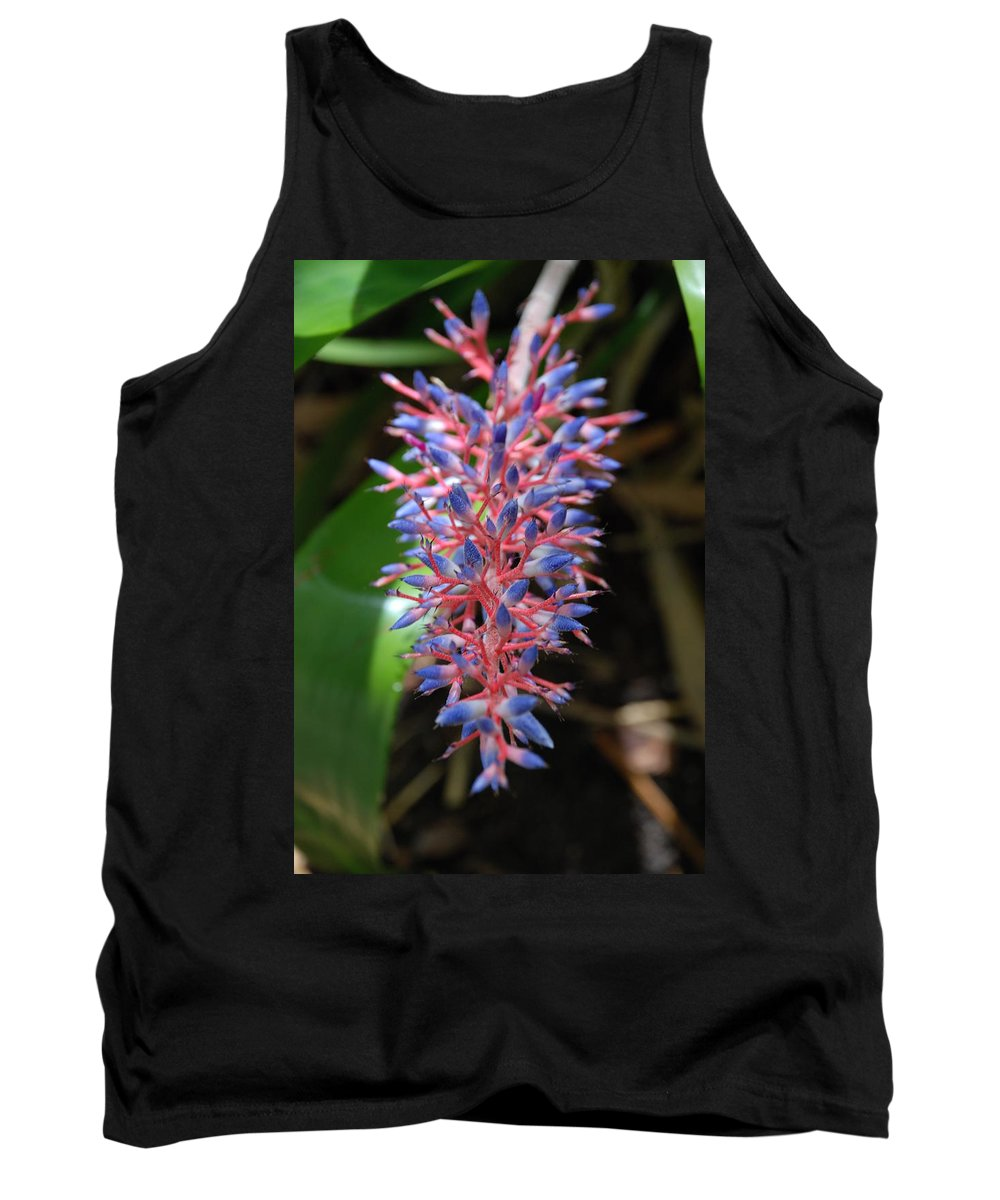 Red Tank Top featuring the photograph Blue Red Plant by Rob Hans