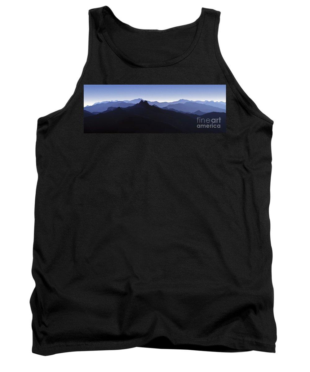 Blue Ridge Mountains Tank Top featuring the photograph Blue Ridge Mountains. Pacific Crest Trail by David Zanzinger