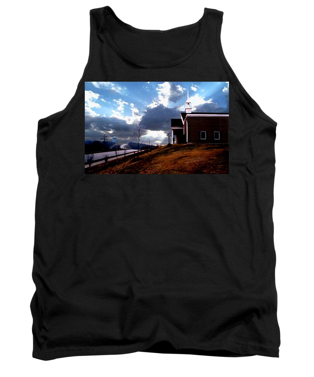 Landscape Tank Top featuring the photograph Blue Springs Landscape by Steve Karol