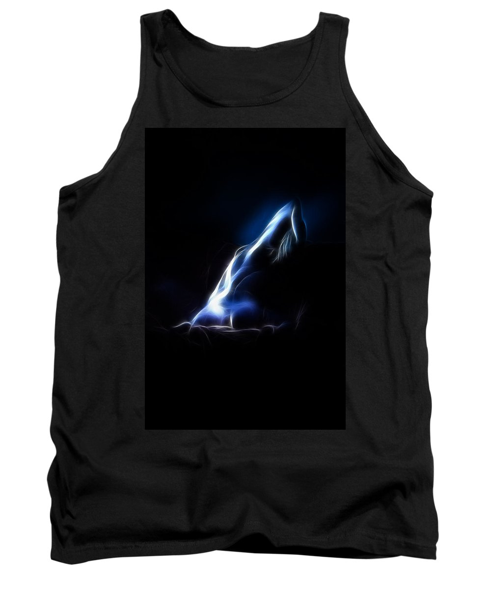 Color Tank Top featuring the photograph Blue Stretch 4023 by Timothy Bischoff
