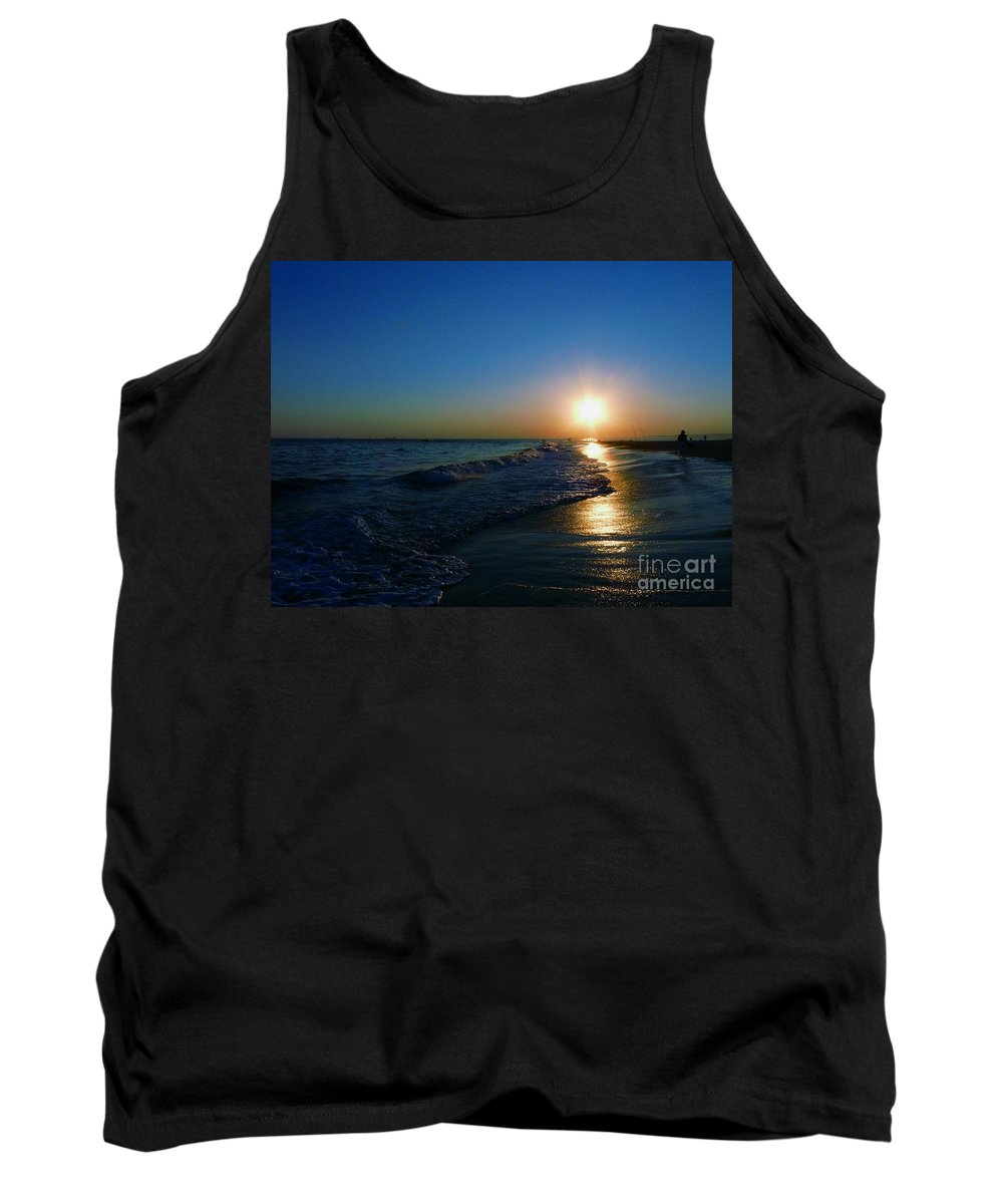 Landscape Tank Top featuring the photograph Blues In The Evening by Kendall Eutemey