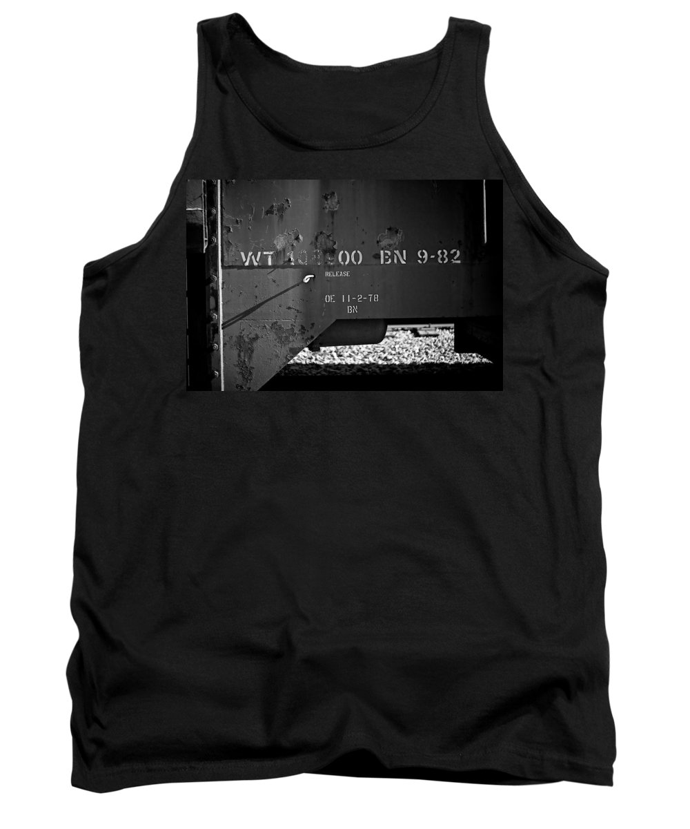 Black And White Photograph Tank Top featuring the photograph Bn 9-82 by Mike Oistad