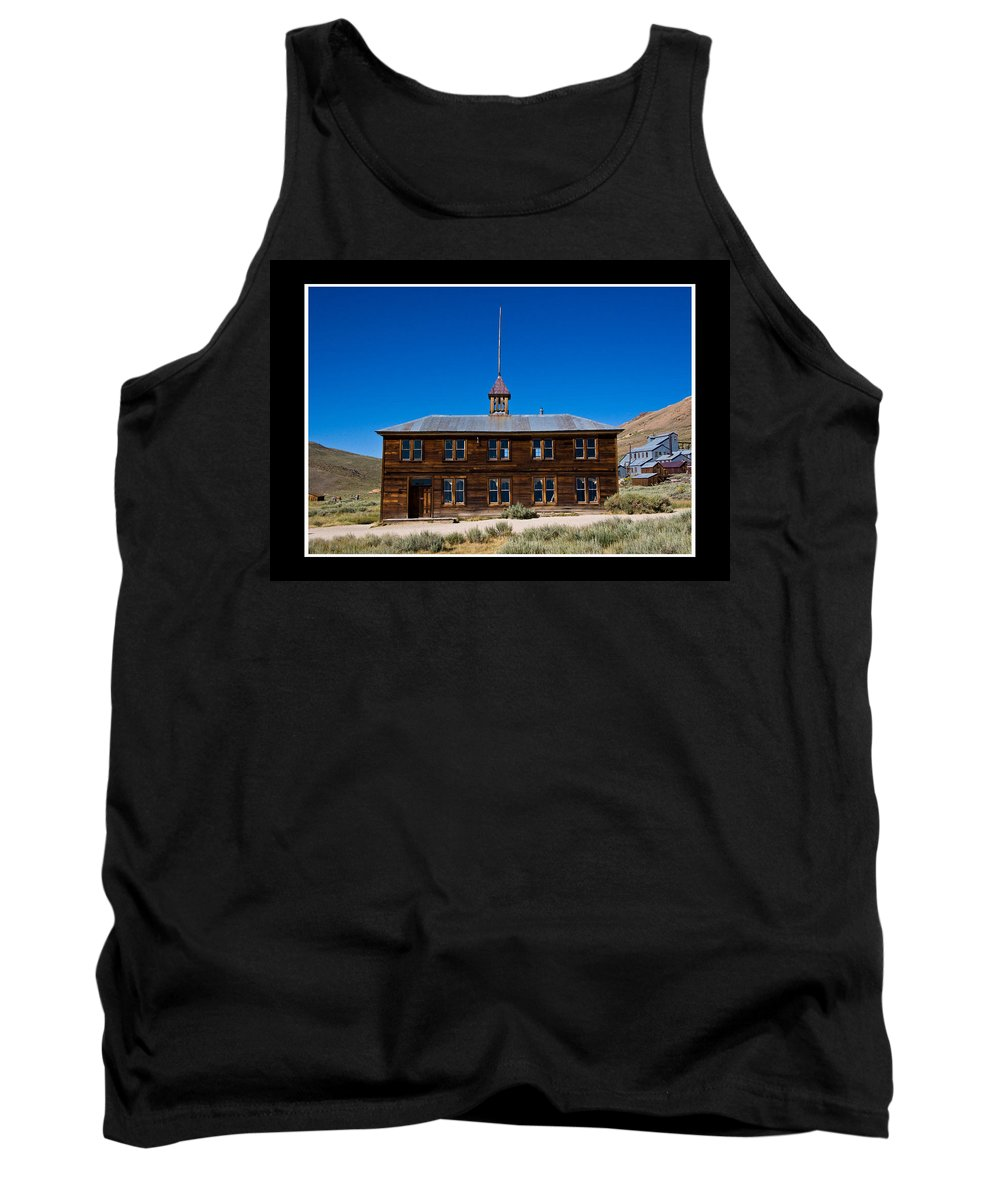 Bodie Schoolhouse Tank Top featuring the photograph Bodie Schoolhouse by Chris Brannen