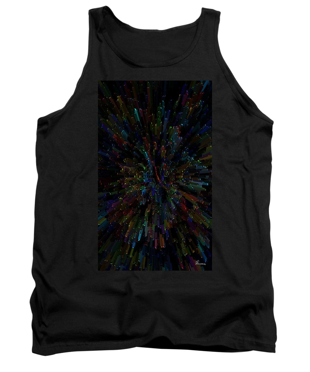 Abstract Color Colorful Colour Rainbow Explosion Expressive Tank Top featuring the digital art Boggled by Andrea Lawrence