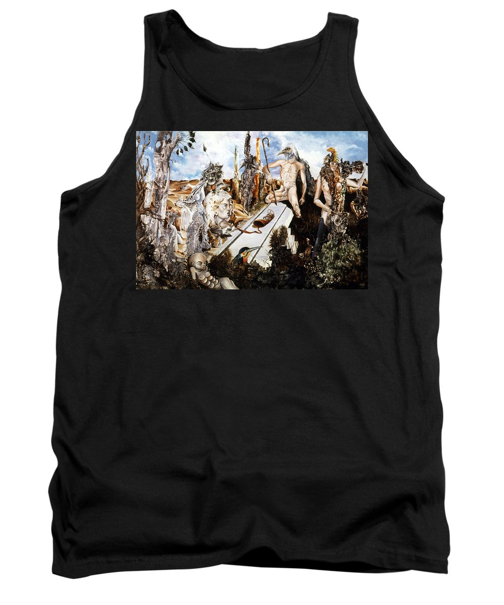 Surrealism Tank Top featuring the painting Bogomils Court by Otto Rapp