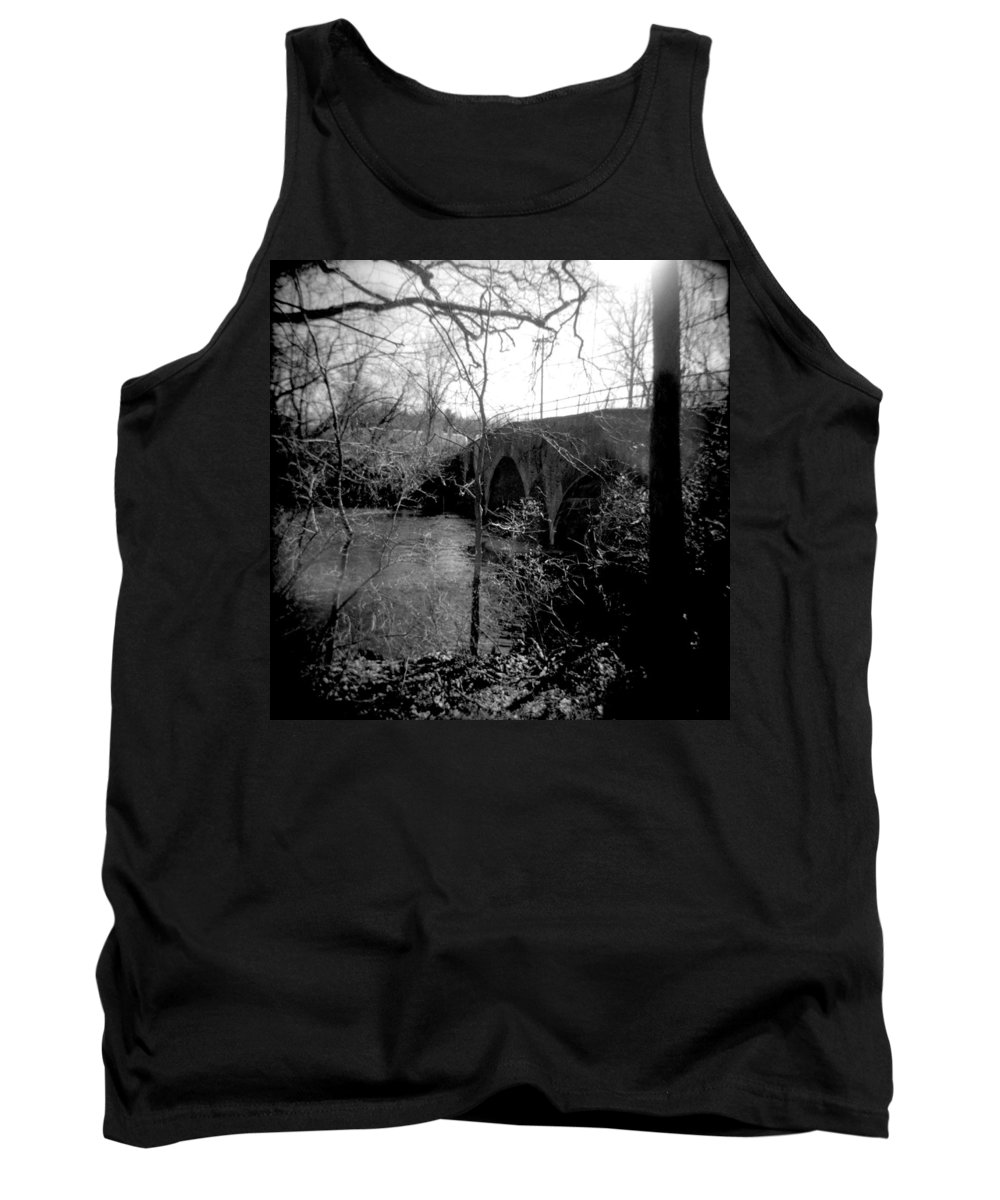 Photograph Tank Top featuring the photograph Boiling Springs Bridge by Jean Macaluso