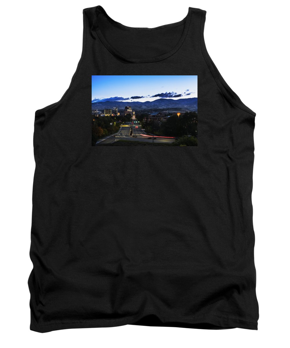 Boise Tank Top featuring the photograph Boise Skyline In Early Morning Hours by Vishwanath Bhat