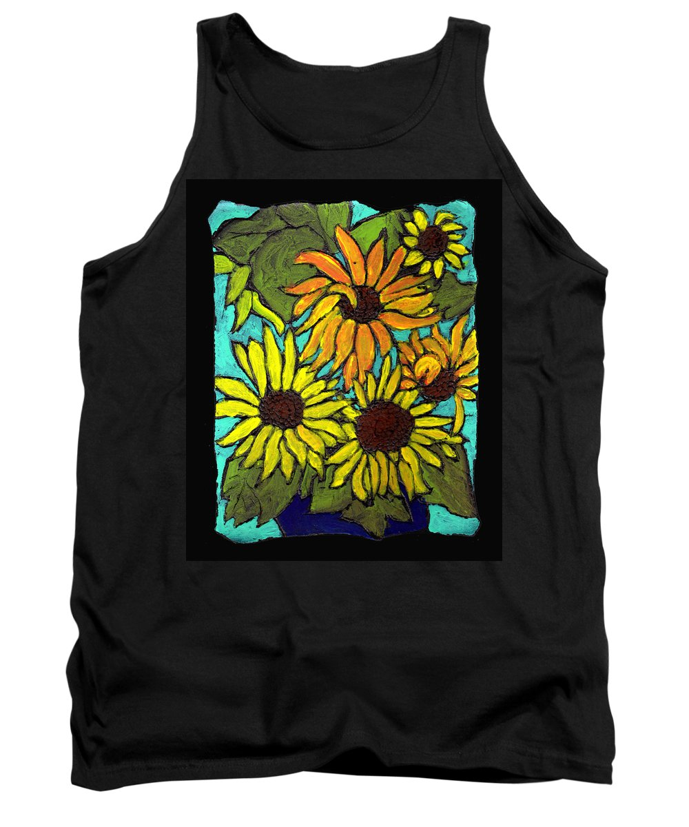 Flowers Tank Top featuring the painting Boquet Of Sunshine by Wayne Potrafka