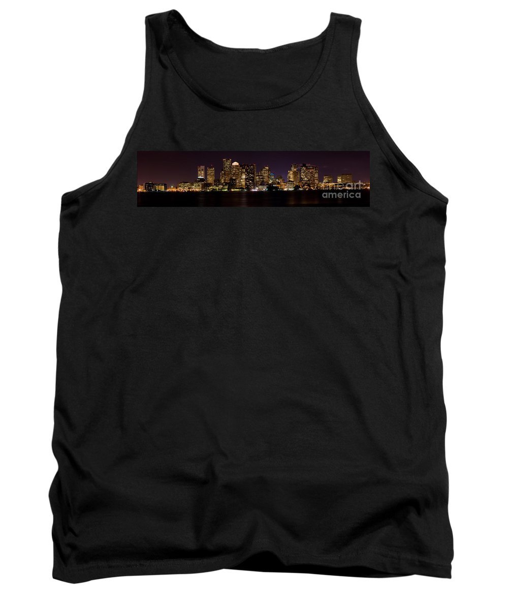 Boston Tank Top featuring the photograph Boston Massachusetts - Panoramic by Anthony Totah