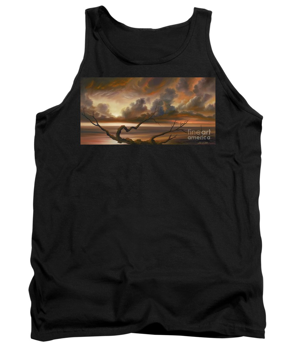 Ocean Tank Top featuring the painting Botany Bay by James Christopher Hill
