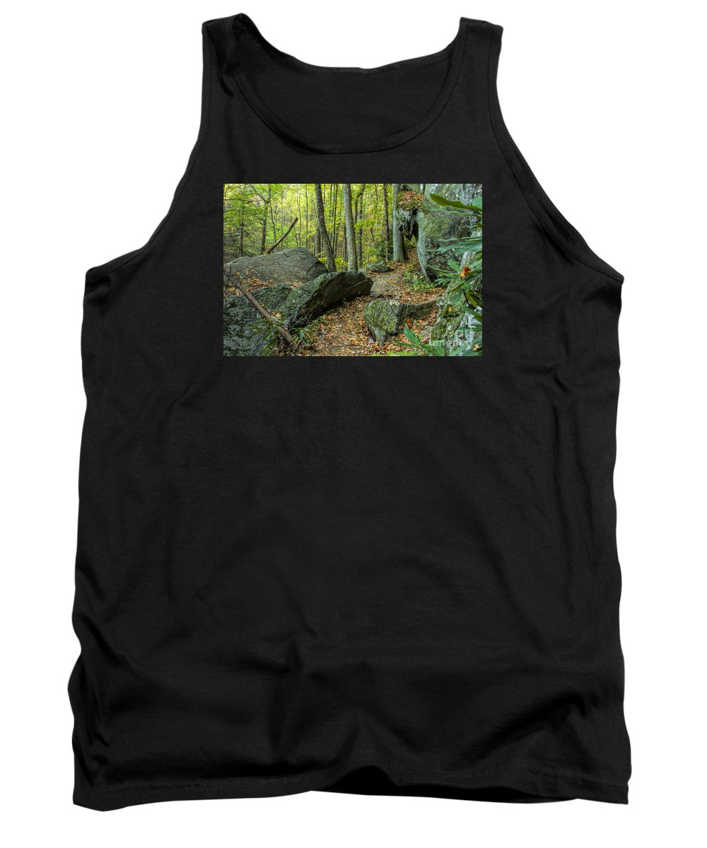 Boulders Tank Top featuring the photograph Boulders On The Bear Hair Gap Trail by Barbara Bowen