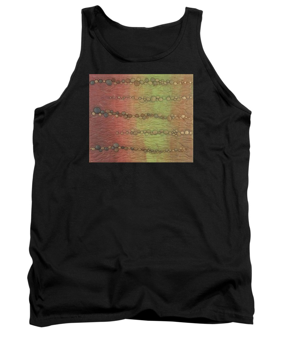 Water Tank Top featuring the tapestry - textile Breakwater by Peggy Wright