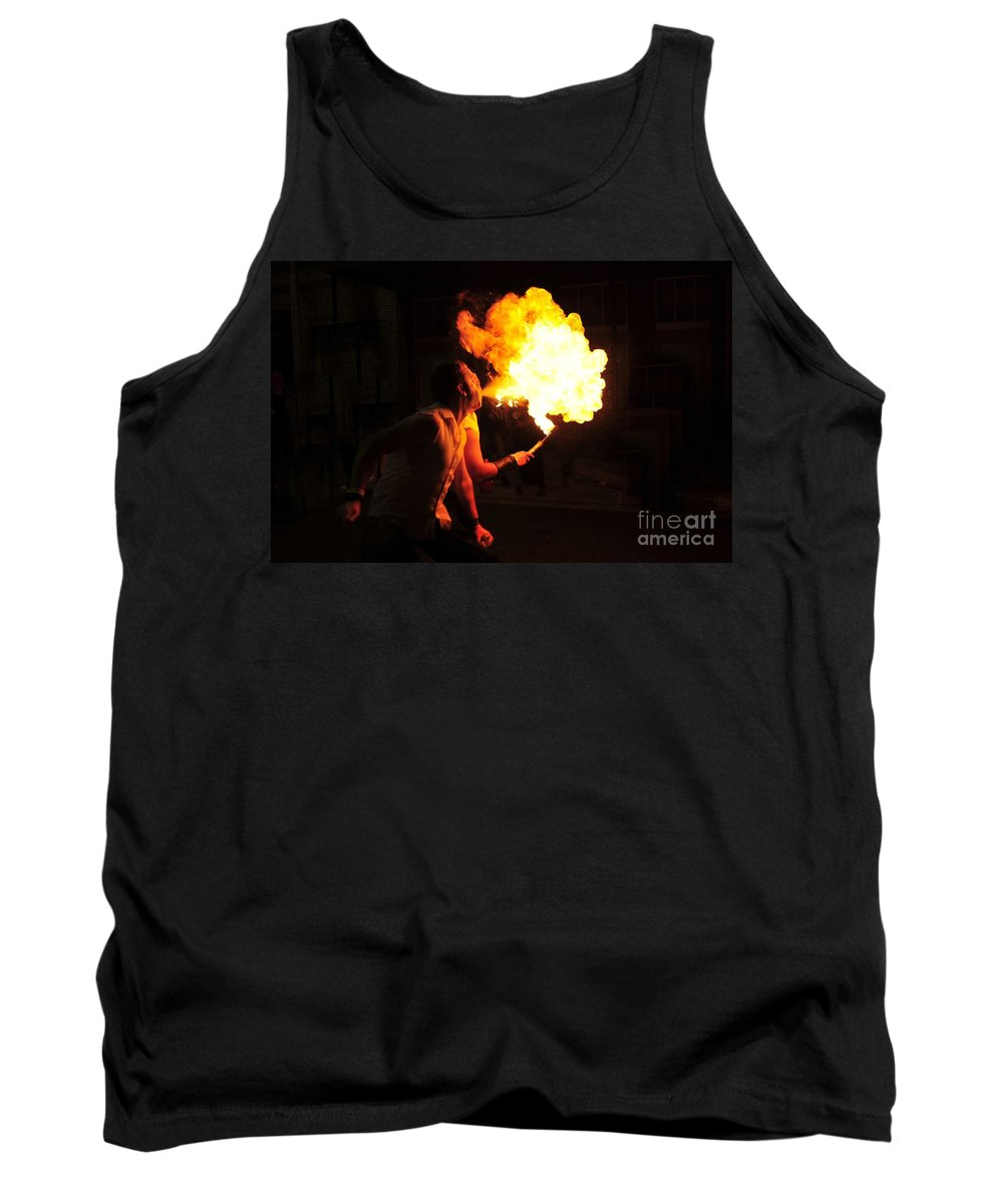 Fire Tank Top featuring the photograph Breath Of Fire by David Lee Thompson