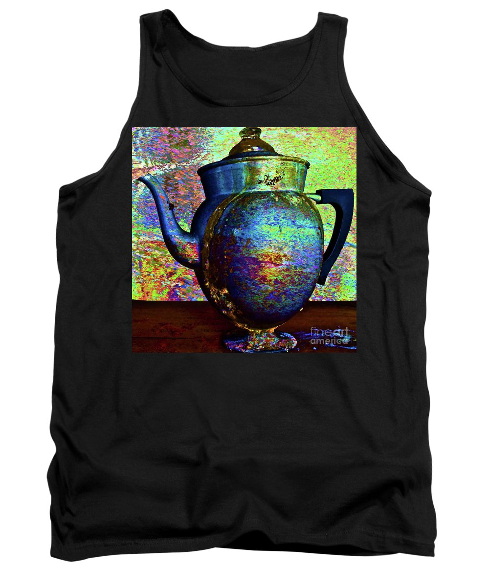 Coffee Pot Tank Top featuring the photograph Brewing Nostalgia by Gwyn Newcombe