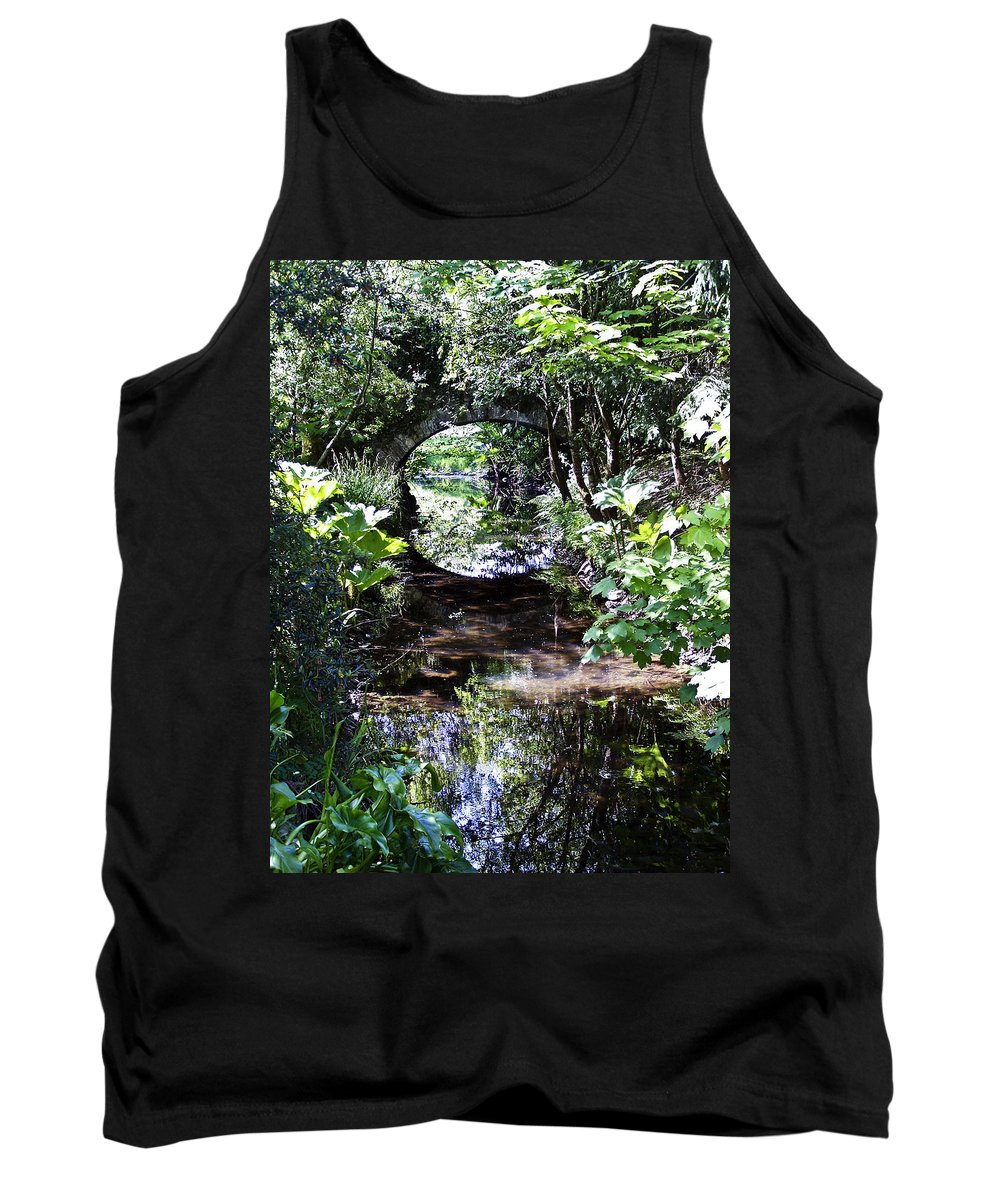 Irish Tank Top featuring the photograph Bridge Reflection At Blarney Caste Ireland by Teresa Mucha