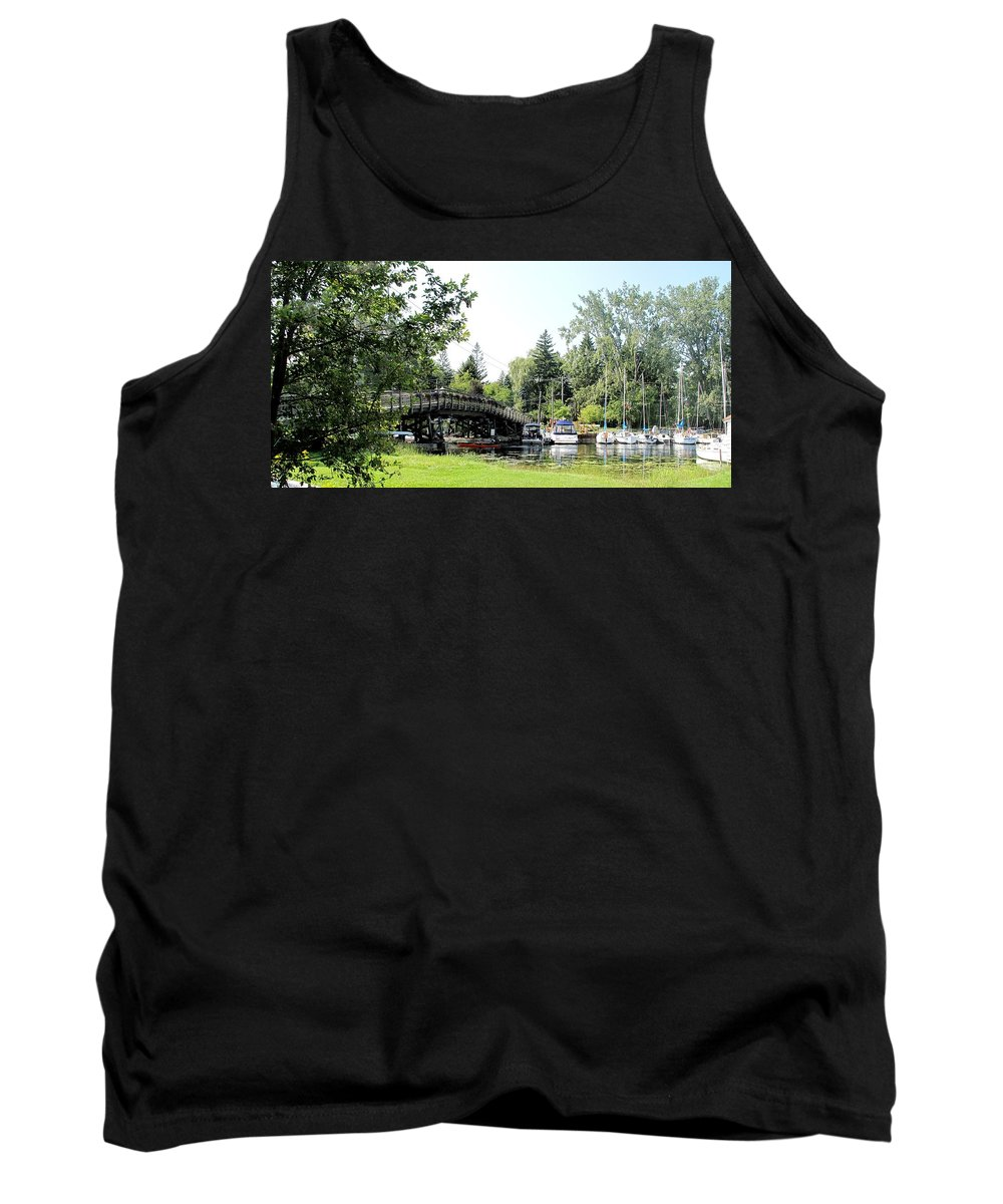 Yahcts Tank Top featuring the photograph Bridge To The Club by Ian MacDonald