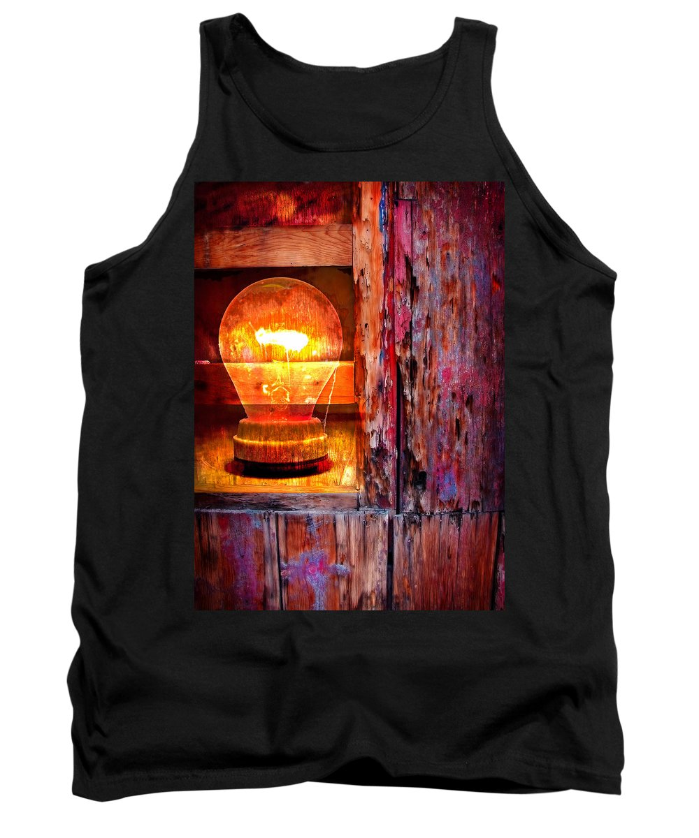 Skip Tank Top featuring the photograph Bright Idea by Skip Hunt