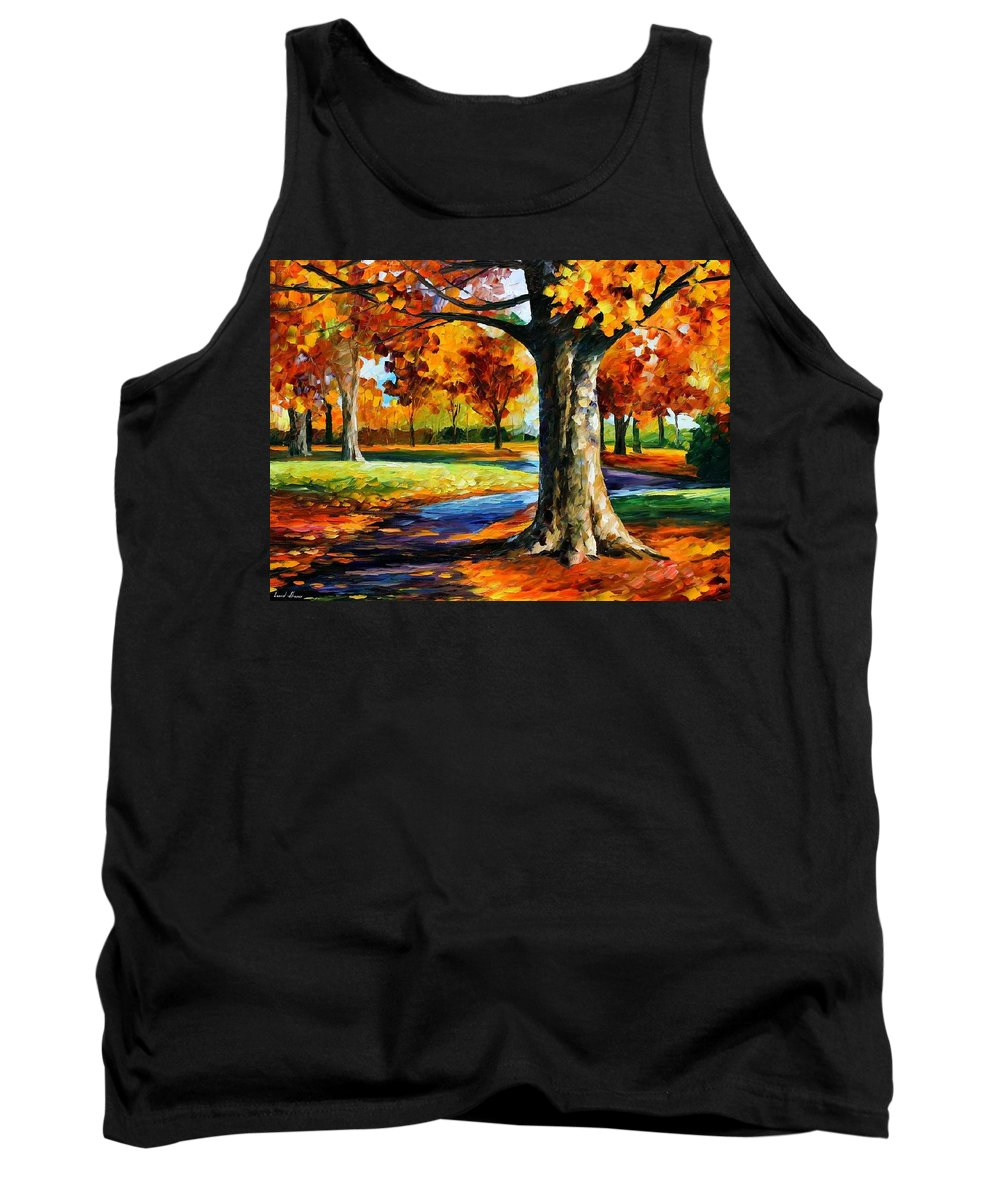 Afremov Tank Top featuring the painting Bristol Fall by Leonid Afremov