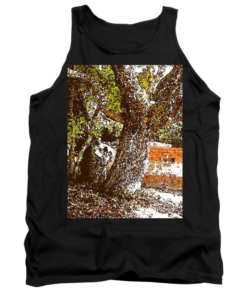 Ocracoke Tank Top featuring the photograph British Cementary Ocracoke Island Nc by Wayne Potrafka