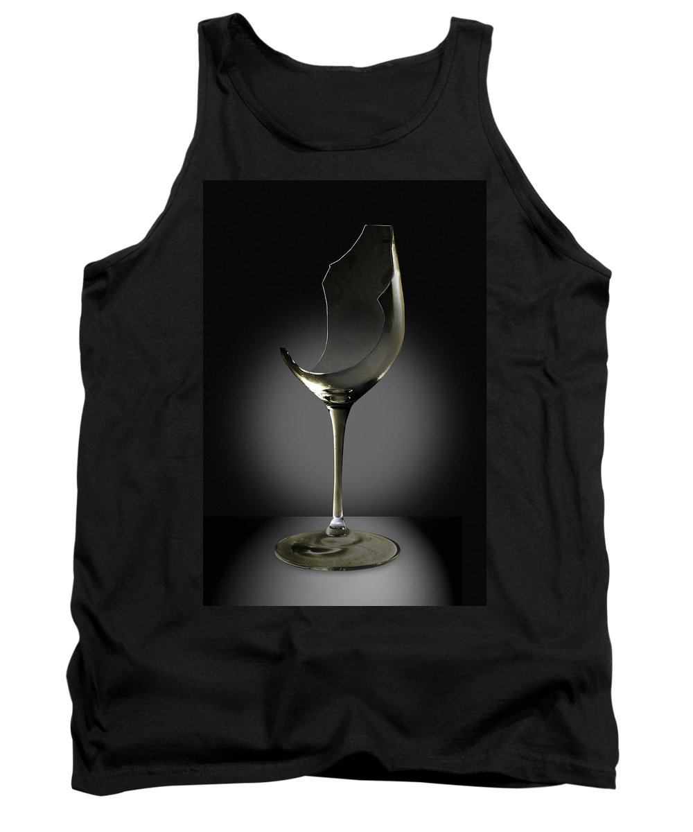 Glassware Tank Top featuring the photograph Broken Wine Glass by Yuri Lev