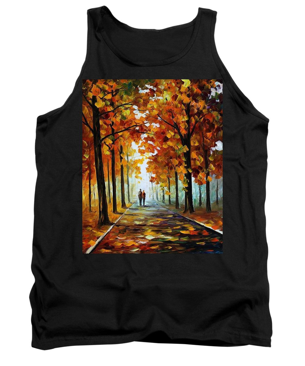 Afremov Tank Top featuring the painting Bronze Fall by Leonid Afremov