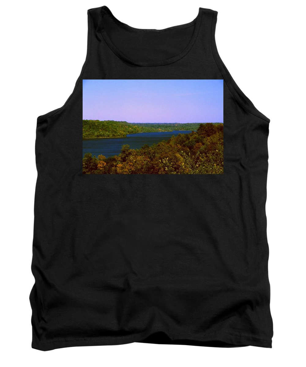 Indiana Tank Top featuring the photograph Brookville Lake Autumn Colors by Gary Wonning