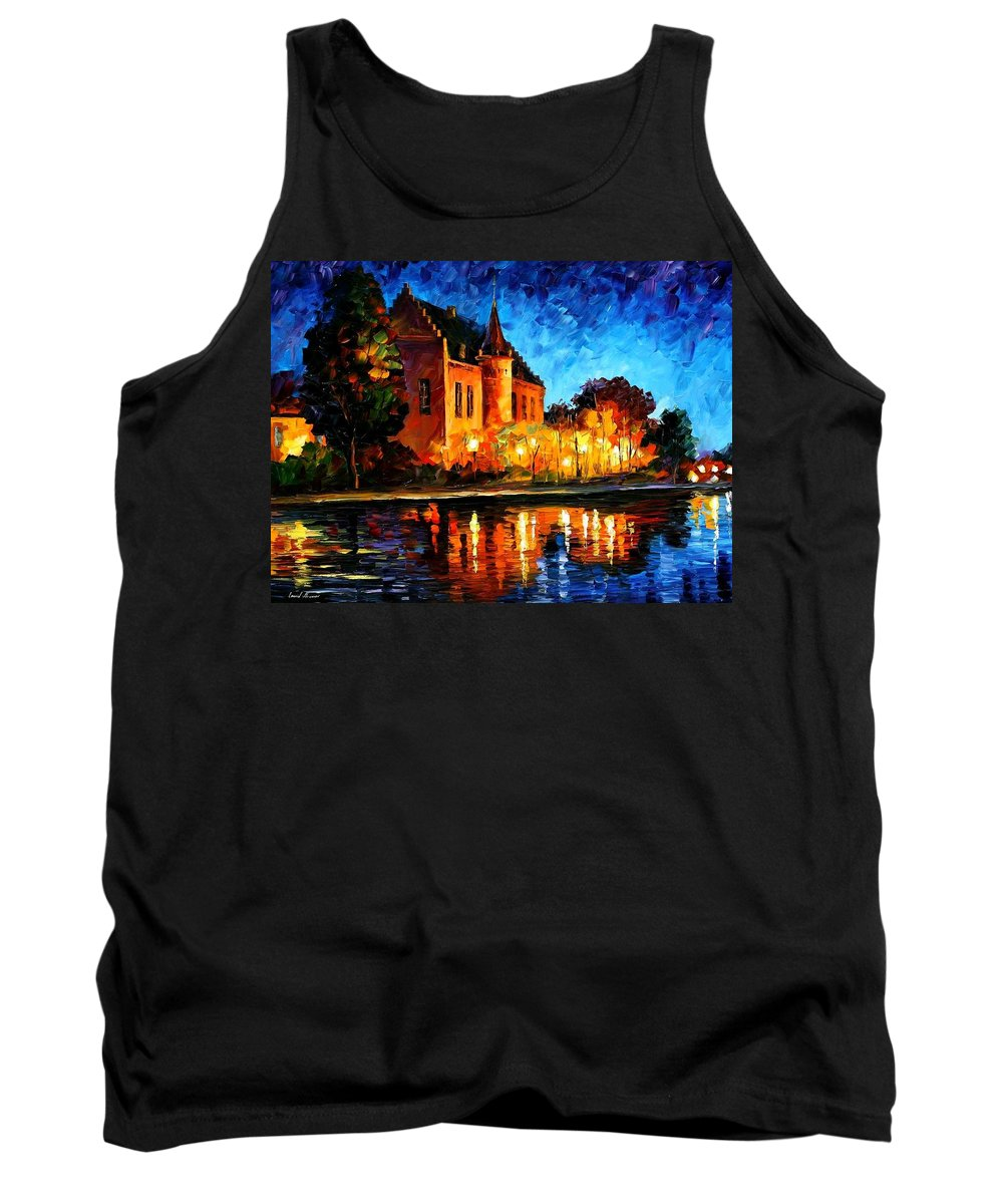 Afremov Tank Top featuring the painting Brussels - Castle Saventem by Leonid Afremov
