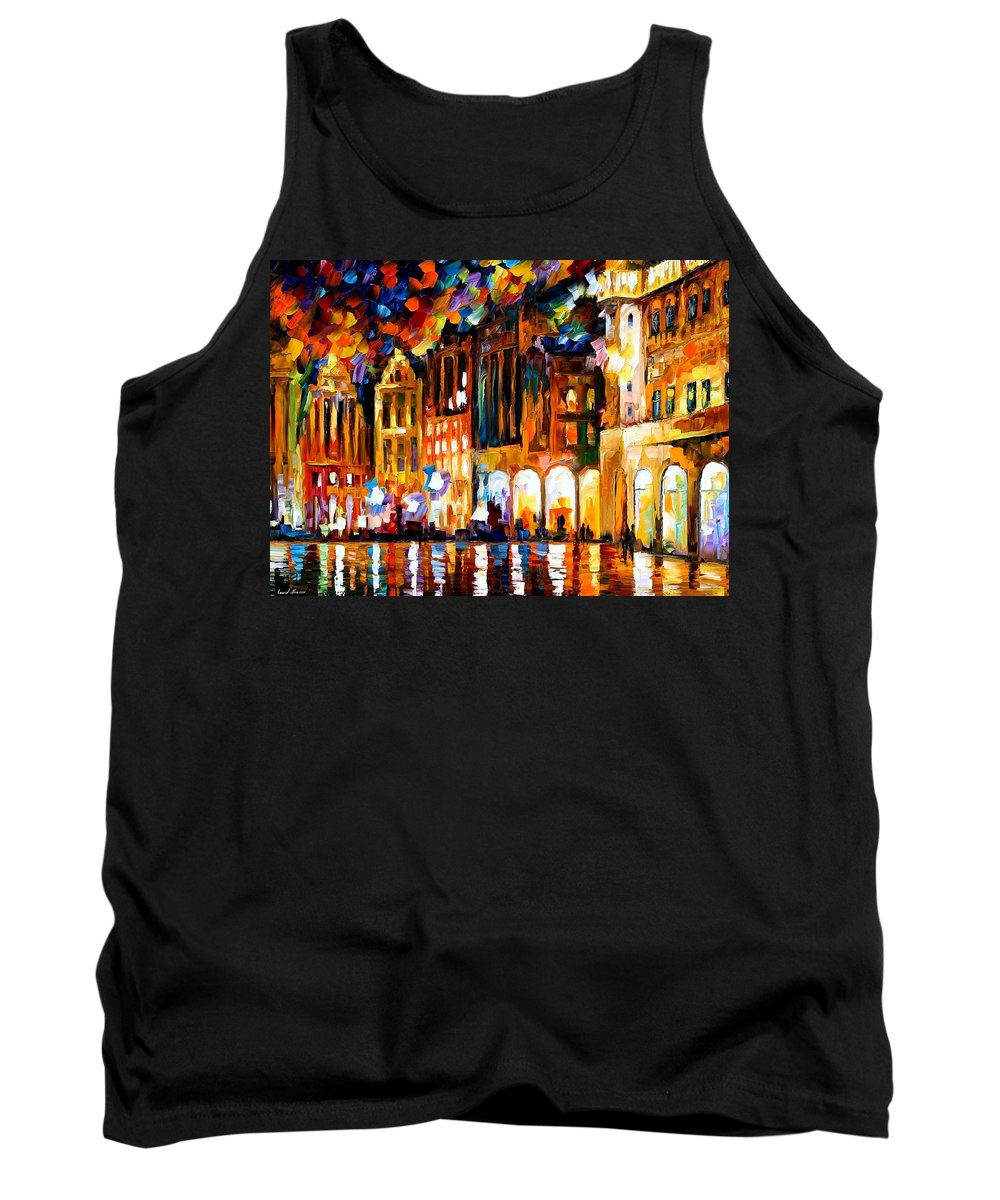 Afremov Tank Top featuring the painting Brussels by Leonid Afremov
