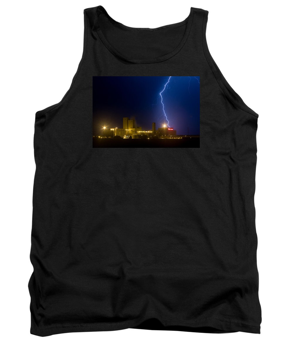 Lightning Tank Top featuring the photograph Bud Light Ning by James BO Insogna