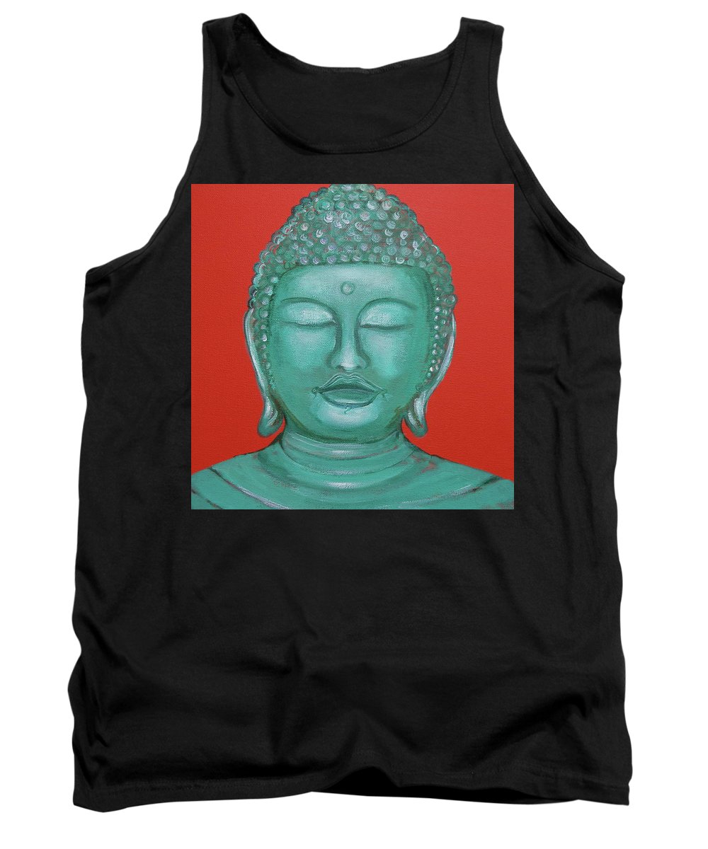 Buddah Tank Top featuring the painting Buddah I by Sue Wright