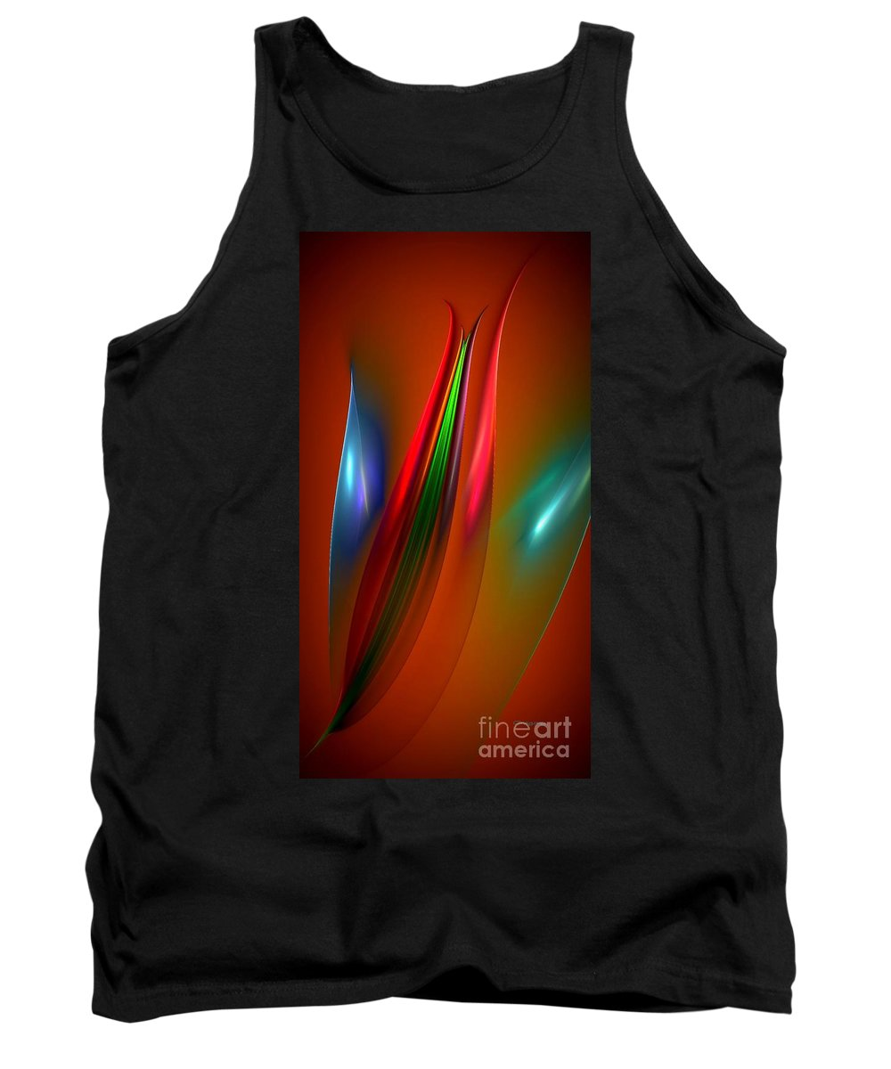 Flower Tank Top featuring the digital art Budding Out by Greg Moores
