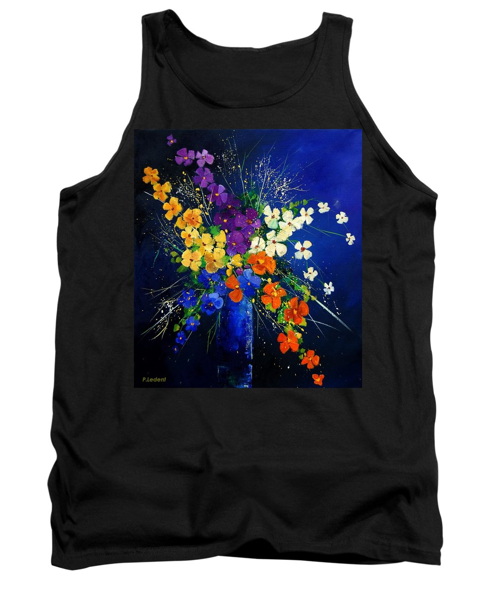 Poppies Tank Top featuring the print Bunch 0408 by Pol Ledent