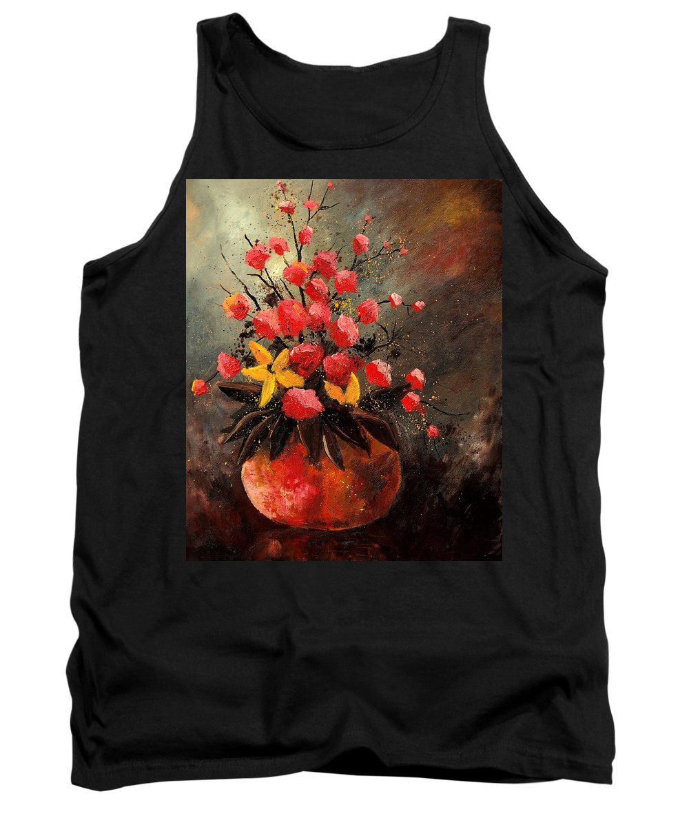 Flowers Tank Top featuring the painting Bunch 569060 by Pol Ledent