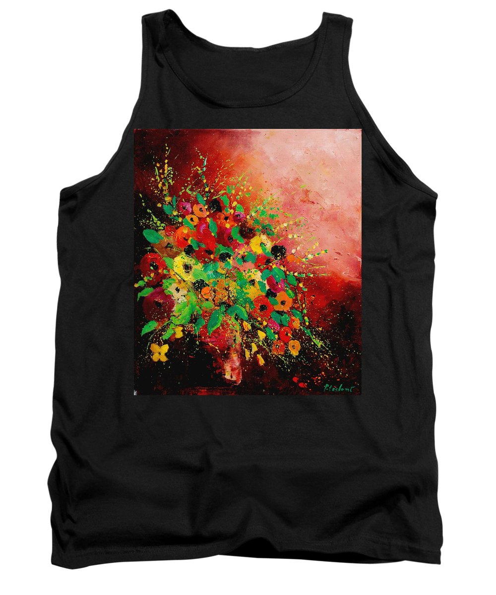 Flowers Tank Top featuring the painting Bunch Of Flowers 0507 by Pol Ledent