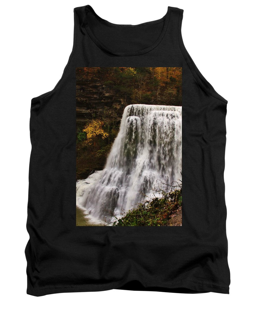 Burgess Fall Tennessee Tank Top featuring the photograph Burgess Fall Tennessee by Lori Mahaffey