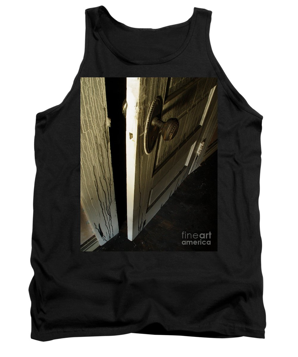 Ghostly Tank Top featuring the photograph Burned Knob 02 by Peter Piatt