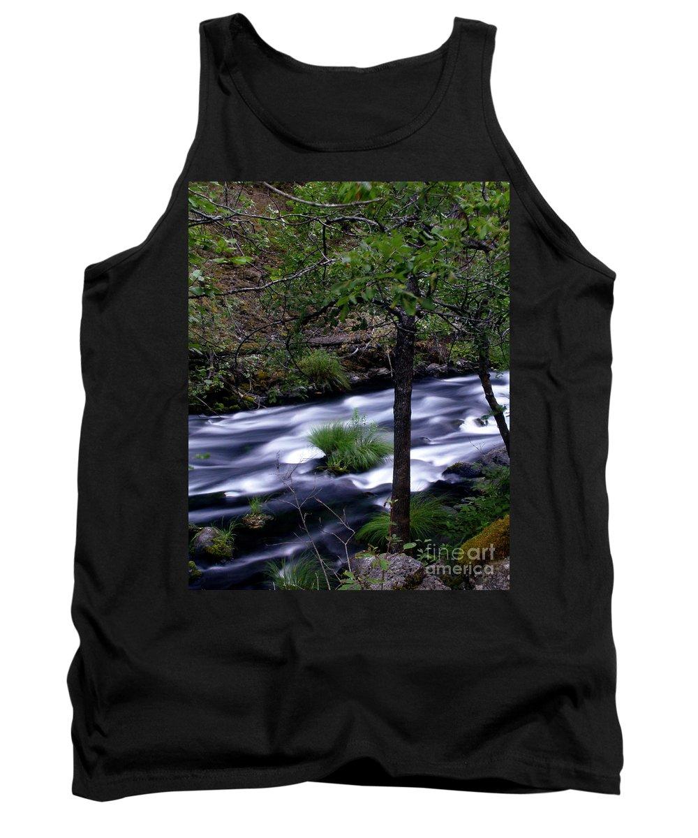 River Tank Top featuring the photograph Burney Creek by Peter Piatt
