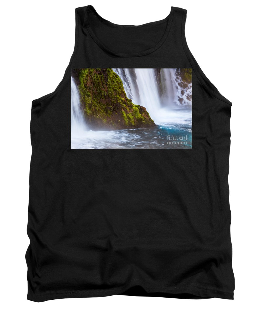 Waterfall Tank Top featuring the photograph Burney Falls by Anthony Michael Bonafede