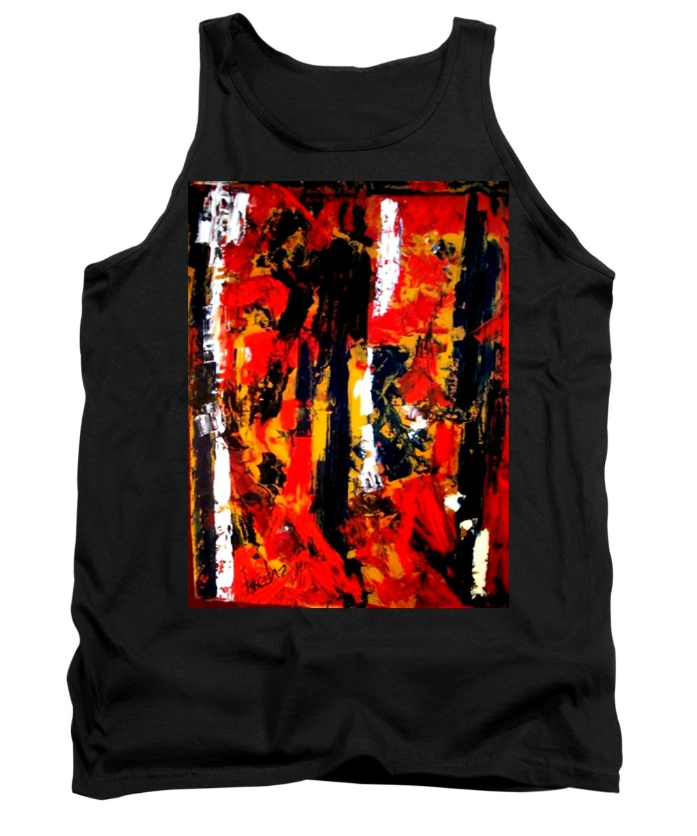 Oil Painting Tank Top featuring the painting Burning Bright by Fareeha Khawaja