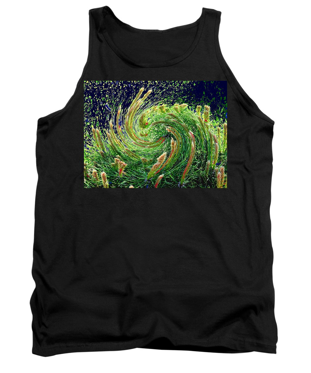 Pine Tank Top featuring the photograph Bush In Transition by Ian MacDonald