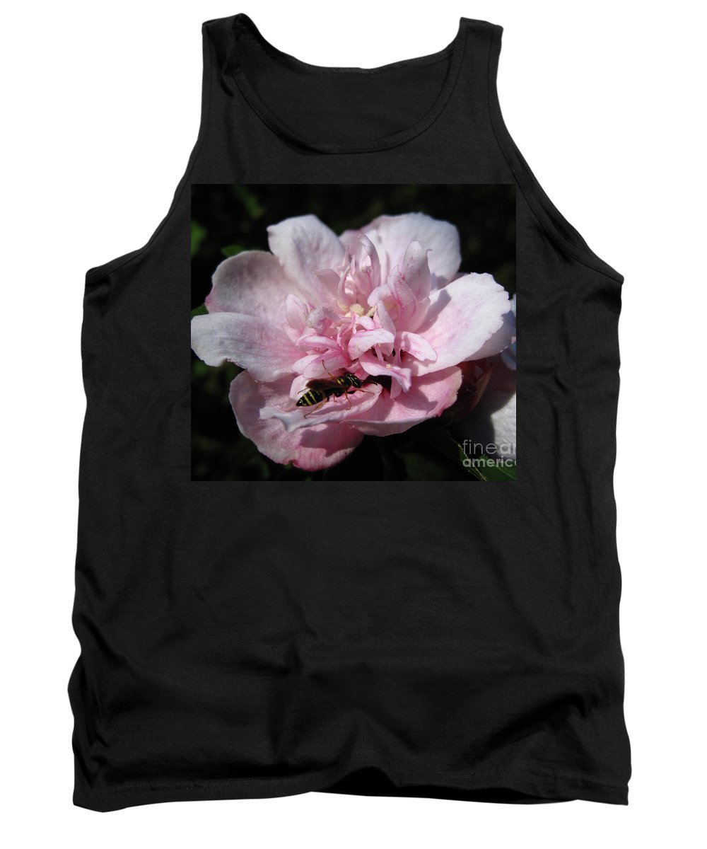 Bee Tank Top featuring the photograph Busy Bee by Cecilia Swatton