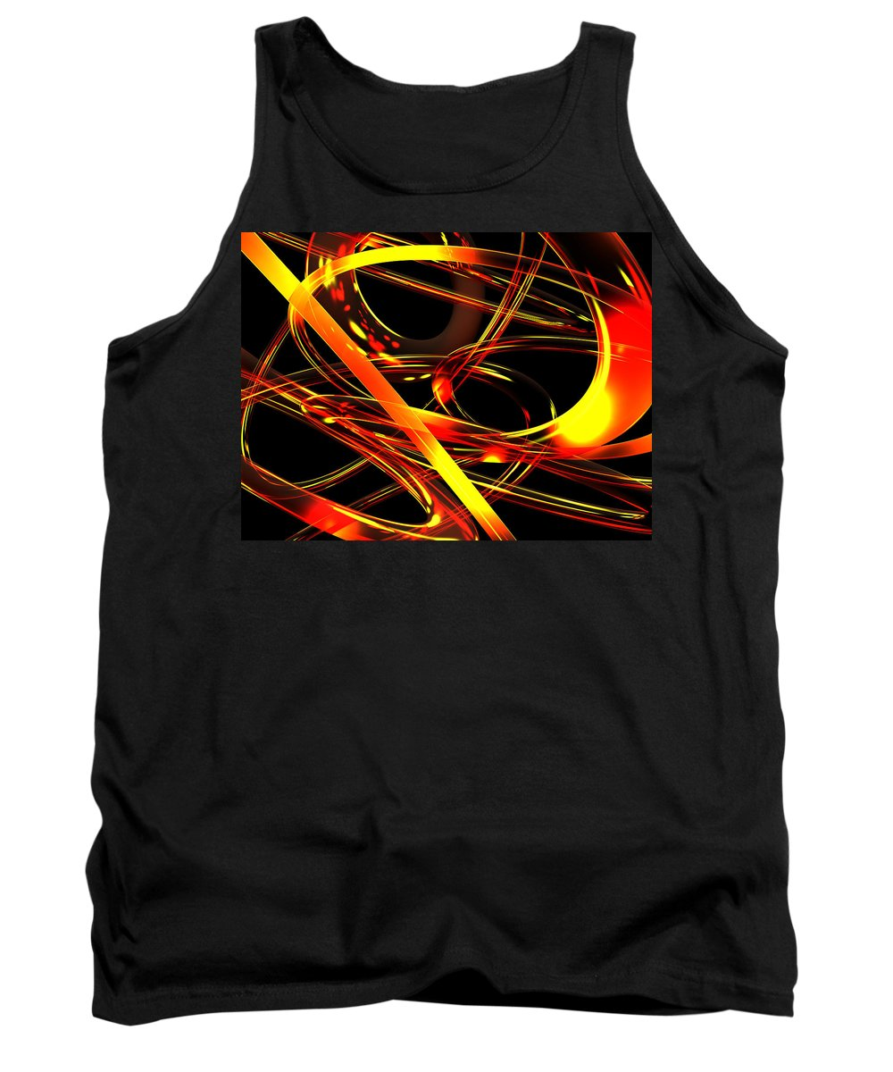Scott Piers Tank Top featuring the digital art BWS by Scott Piers
