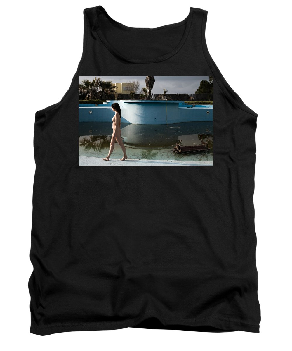 Nudes Tank Top featuring the photograph By The Old Pool by Olivier De Rycke