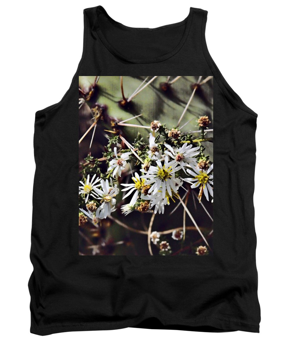 Cactus Tank Top featuring the photograph Cactus Flowers by Scott Wyatt