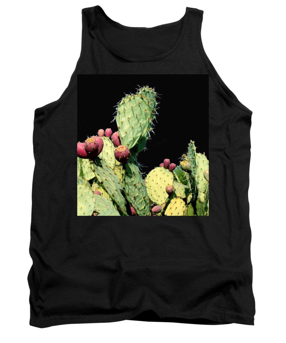 Cactus Tank Top featuring the photograph Cactus Two by Wayne Potrafka