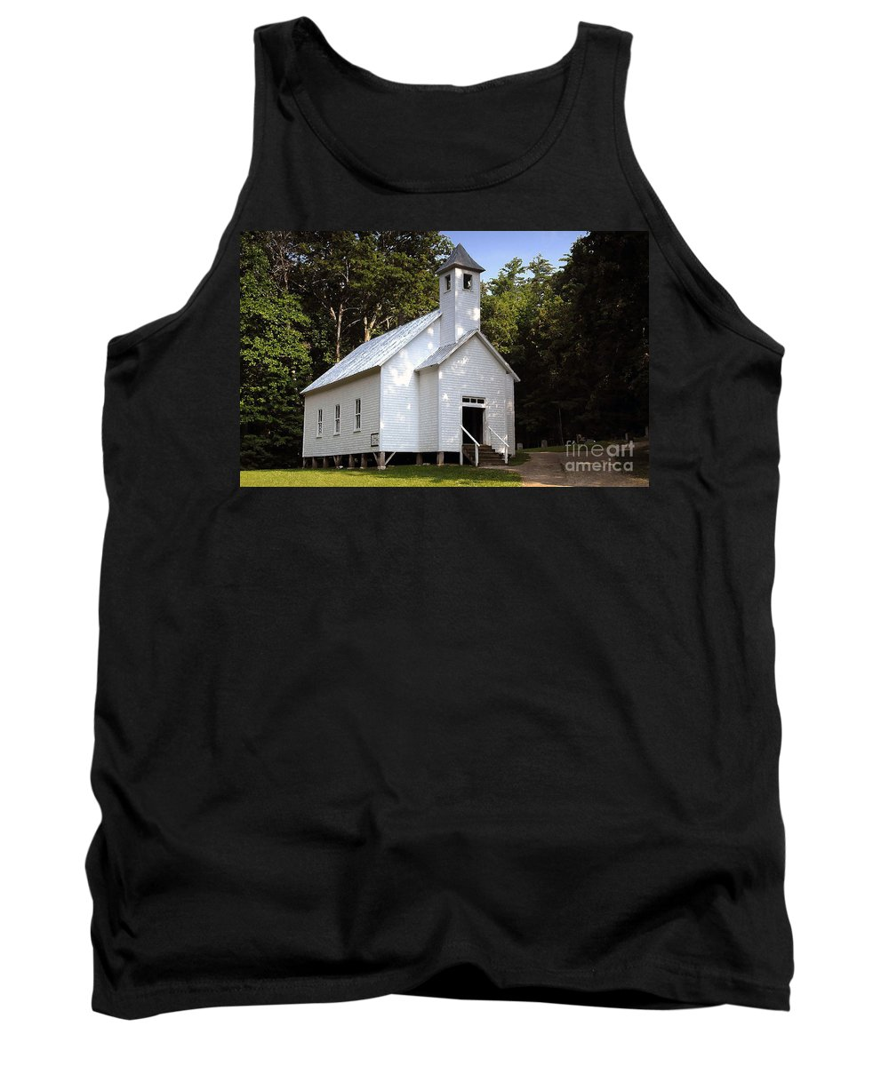 Baptist Tank Top featuring the photograph Cades Cove Baptist Church by David Lee Thompson