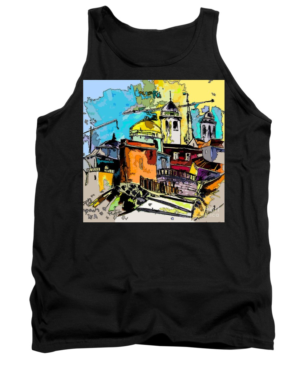 Spain Painting Cadiz Andalusia Tank Top featuring the painting Cadiz Spain 02 Bis by Miki De Goodaboom
