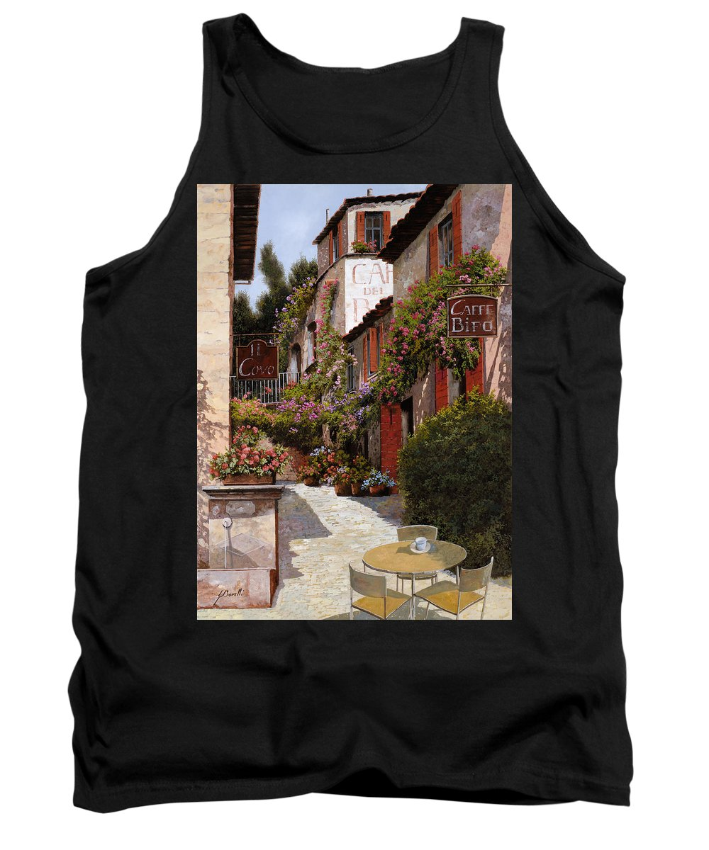 Cafe Tank Top featuring the painting Cafe Bifo by Guido Borelli